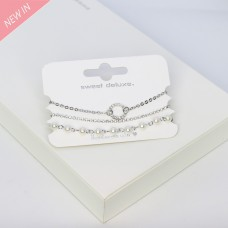 Armband-Set Rizalyn, 3tlg.,silber crystal 0