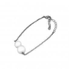 Armband Felicita, silber Perle 0