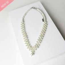 Kette Agatha, silber pearl 0