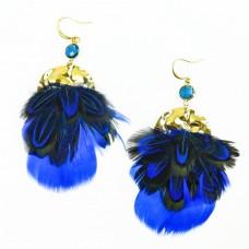 Ohrschmuck Fia, royal blau gold 0