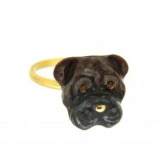 Ring Doggy, gold braun 0