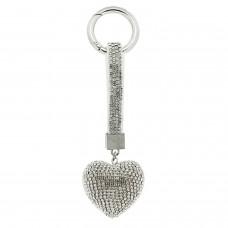 Schlüsselanhänger Herz, silber crystal 0