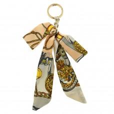 Schlüsselanhänger Schleife, gold beige mix 0