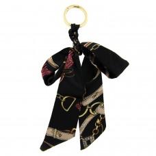 Schlüsselanhänger Schleife, gold schwarz mix 0