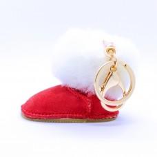 Schlüsselanhänger Stiefel, rot 0