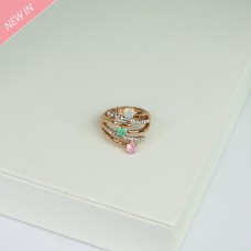 Stretchring, rosegold crystal opal 0