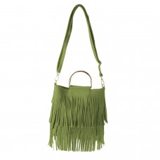 Tasche Fransen, grün 0
